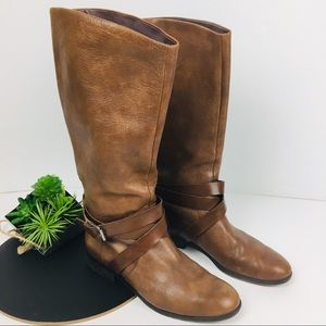 Dolce Vita Leather Strap shin height ridding boot